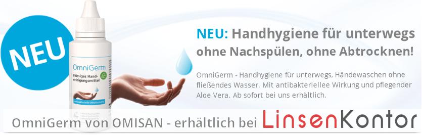 Neu: OmniGerm - Handhygiene für unterwegs bei LinsenKontor