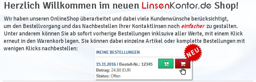 Neue Funktionen im LinsenKontor Shop!