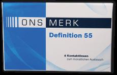 ONS MERK Definition 55 - Hioxifilcon A Testlinse