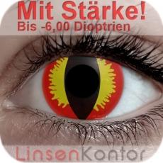 Farbige Kontaktlinsen mit Stärke Crazy Lenses Red Devil