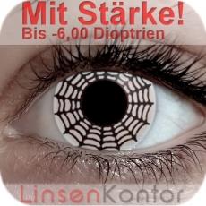 Farbige Kontaktlinsen mit Stärke Spider