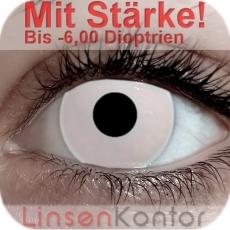 Farbige Kontaktlinsen mit Stärke Crazy Lenses White Out