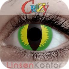 Farbige Kontaktlinsen Crazy Lenses Green Devil