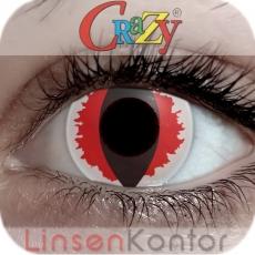Farbige Kontaktlinsen Crazy Lenses White Devil