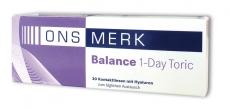 ONS MERK Balance 1-Day Toric 30er Packung