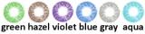 Farbige Kontaktlinsen mit Stärke Images monthly