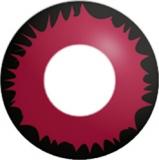 Farbige Kontaktlinsen mit Stärke Crazy Lenses Red Werewolf