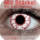 Farbige Kontaktlinsen mit Stärke Crazy Lenses White Fire