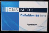 ONS MERK Definition 55 Toric - Hioxifilcon A Testlinse