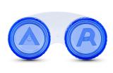 Sclera Case F - flacher Behälter für große Kontaktlinsen