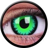 Farbige Kontaktlinsen mit Stärke Green Werewolf