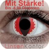 Farbige Kontaktlinsen mit Stärke Crazy Lenses White Devil