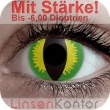 Farbige Kontaktlinsen mit Stärke Crazy Lenses Green Devil
