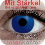 Farbige Kontaktlinsen mit Stärke Crazy Lenses Blue Out (Ocean)