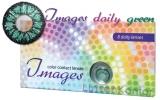 Farbige Kontaktlinsen mit Stärke Images daily green