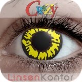 Farbige Kontaktlinsen Crazy Lenses Black Wolf