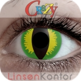 Farbige Kontaktlinsen Crazy Lenses Green Devil