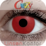 Farbige Kontaktlinsen Crazy Lenses Hot Red