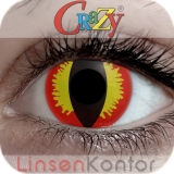 Farbige Kontaktlinsen Crazy Lenses Red Devil
