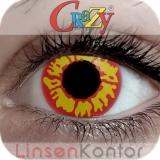 Farbige Kontaktlinsen Crazy Lenses Red Wolf