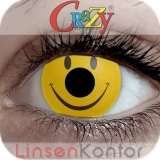 Farbige Kontaktlinsen Crazy Lenses Smiley